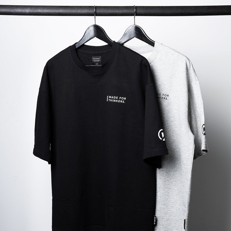 """Essential"" DS Oversized T-shirt - Melange Grey"