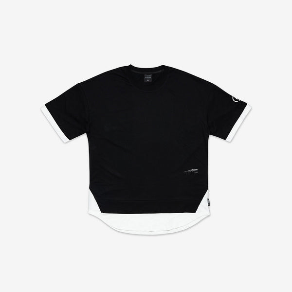 """Essential"" Scallop Layer Oversized T-shirt - Black"