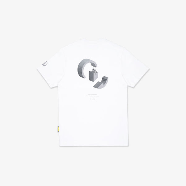 """Essential"" Floating Thinker T-shirt - White"