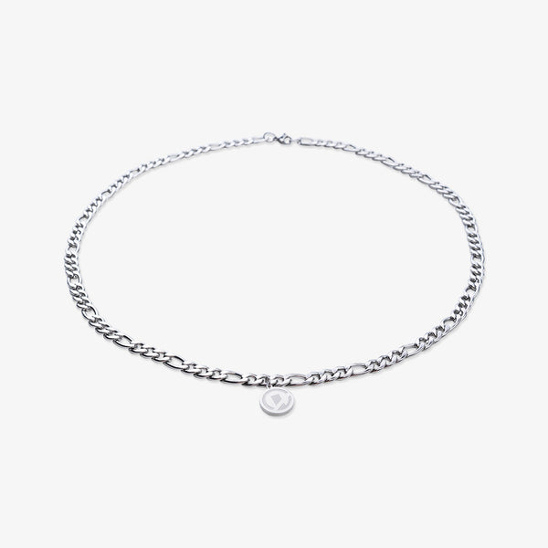 """Essential"" Figaro Chain Necklace 6MM - Silver"