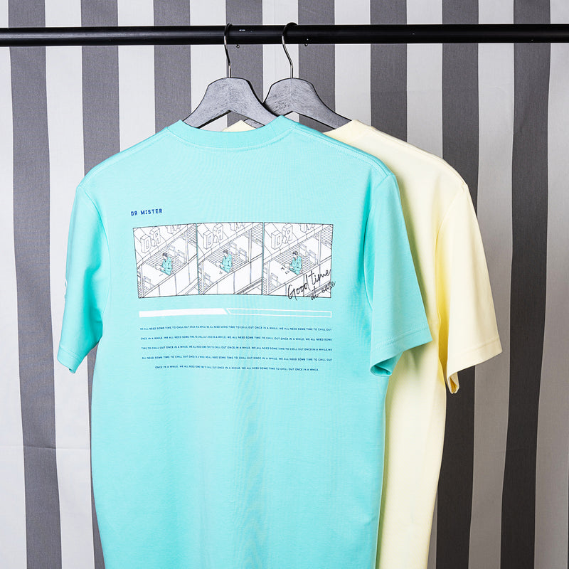 """Good Time At Ease"" Chill Out T-shirt - Mint Green"