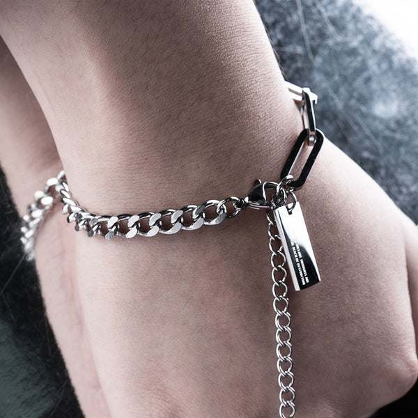 """Essential"" Mini Hybrid Chain Bracelet 5mm - Silver"
