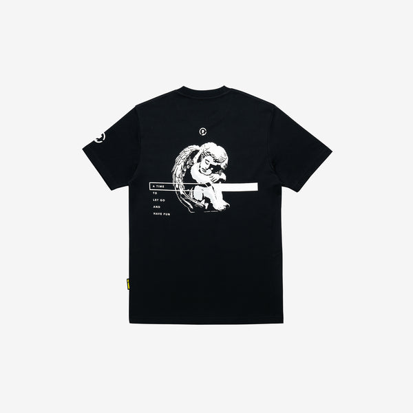 """Good Time At Ease"" Sleeping Angel T-shirt - Black"