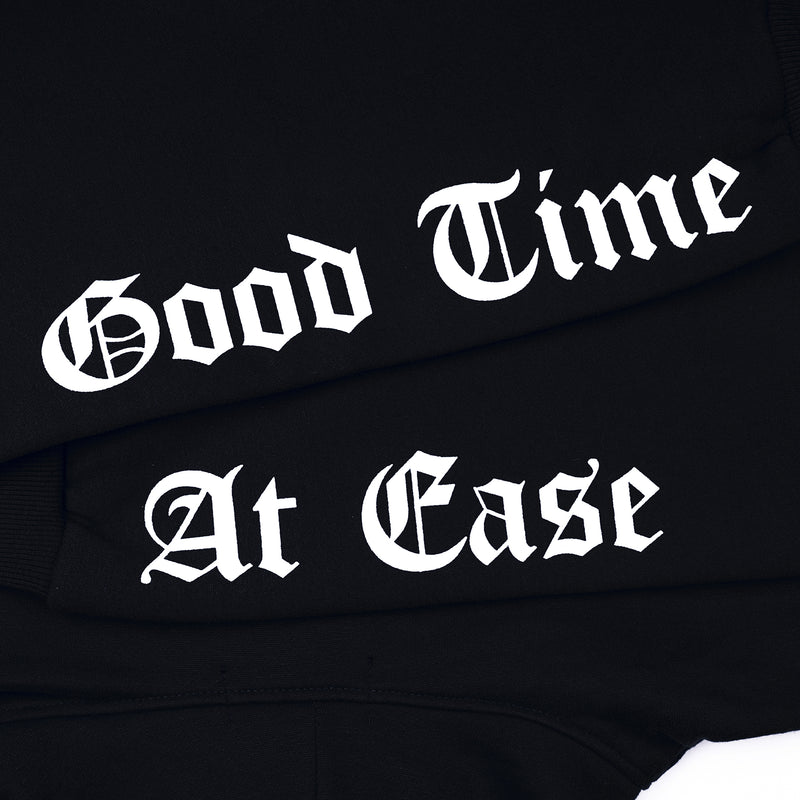 """Good Time At Ease"" Dream Angel Hoodie - Black"