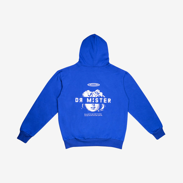 """Good Time At Ease"" Dream Angel Hoodie - Duke Blue"