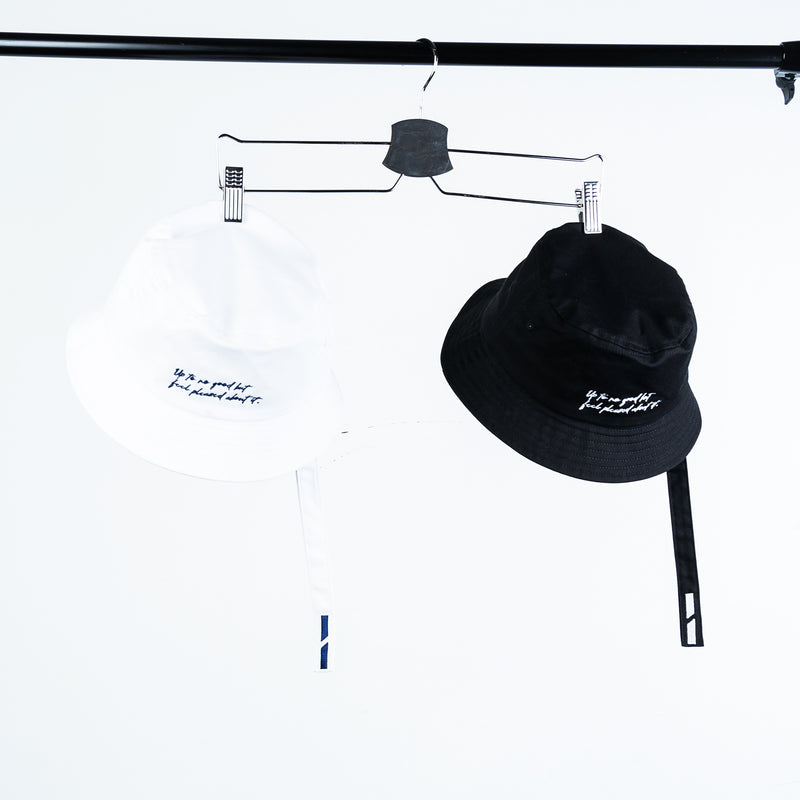 """Mischief"" Strap Bucket Hat - Black"