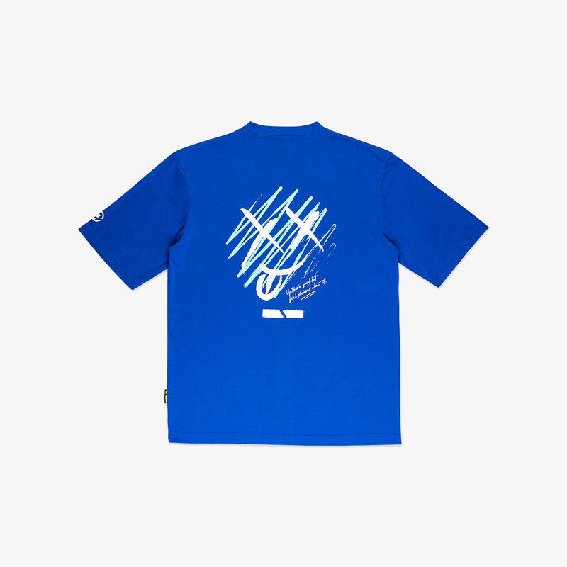 """Mischief"" Oversized T-shirt 2.0 - Duke Blue"