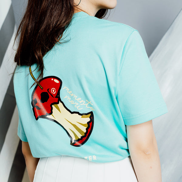 """Memento Mori"" Devoured T-shirt - Mint Green"