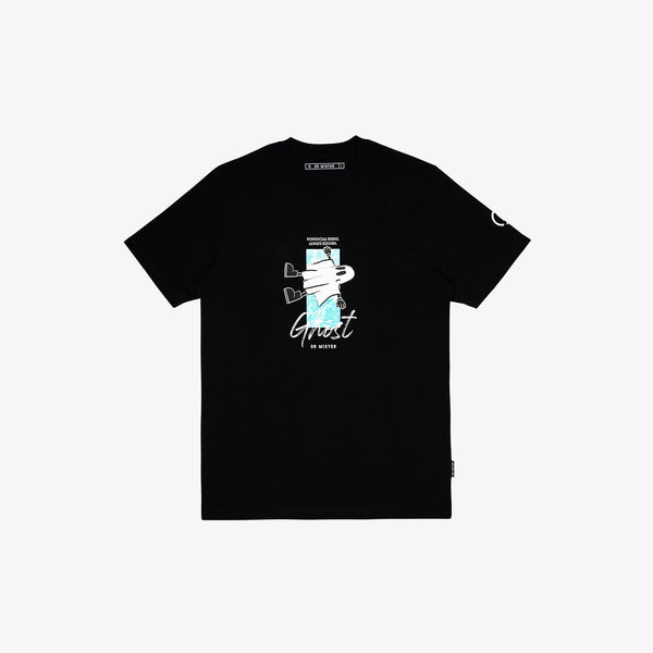 """Nonsocial Being"" Floating Ghost T-shirt - Black"