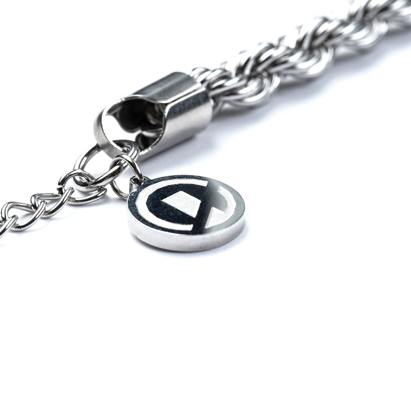 """Essential"" Rope Chain Bracelet 7mm- Silver"