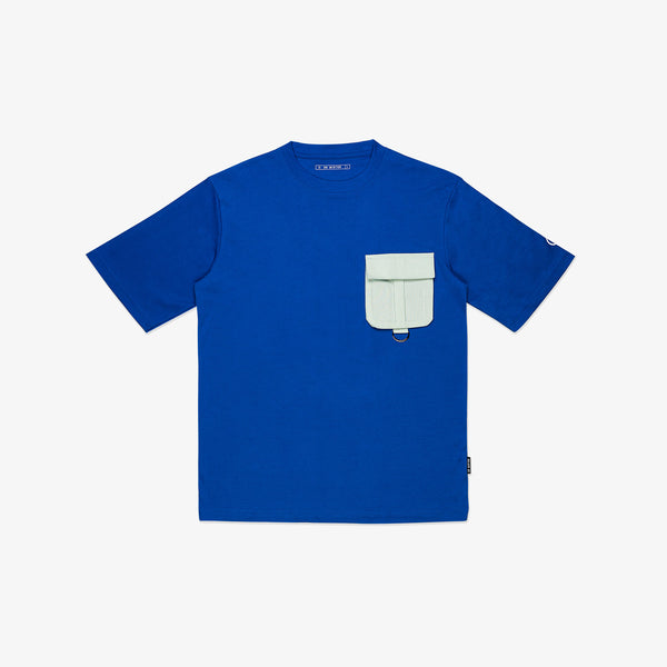 """Essential"" T-Pocket Oversized T-shirt - Duke Blue/Mint Green"