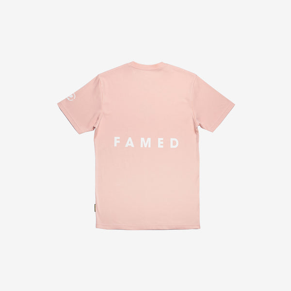 """The Famed Unknown"" Red Shades T-shirt - Beige Pink"