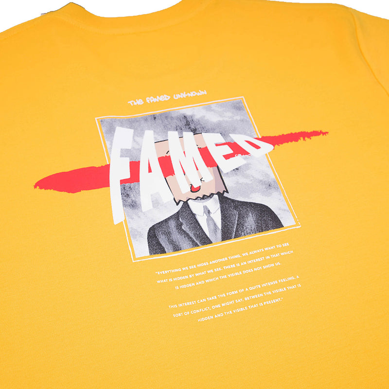 """The Famed Unknown"" The Son T-shirt - Amber Yellow"