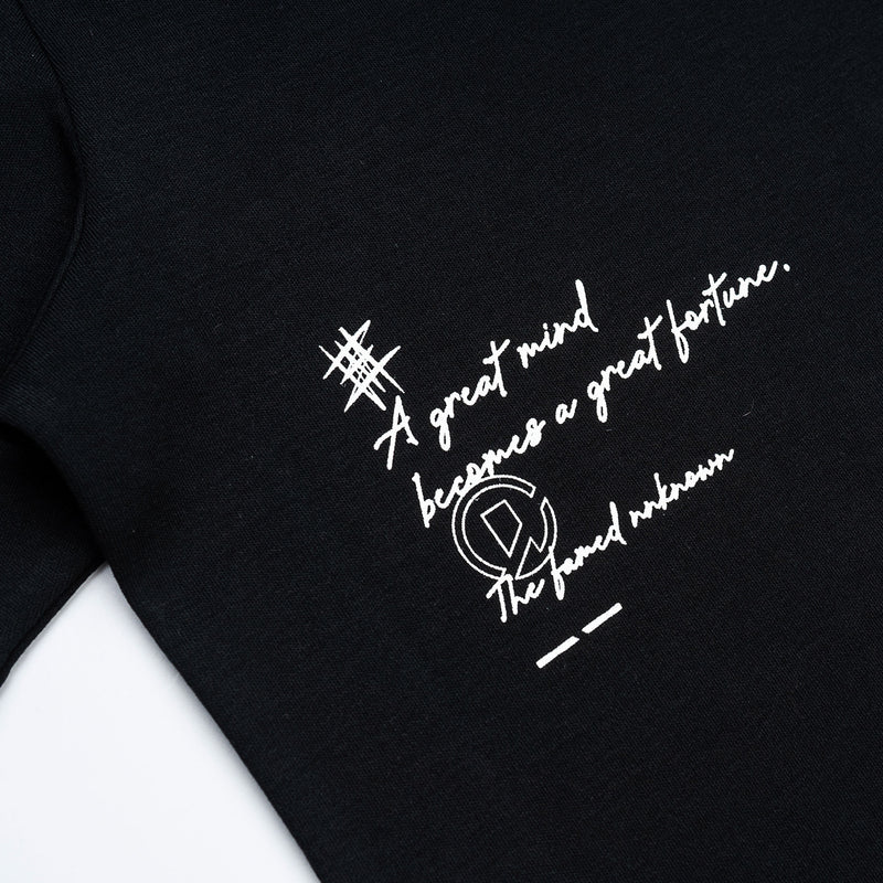 """The Famed Unknown"" Fortune Cat T-shirt - Black"