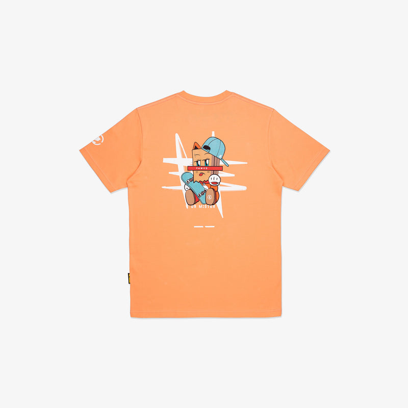"""The Famed Unknown"" Fortune Cat T-shirt - Salmon"