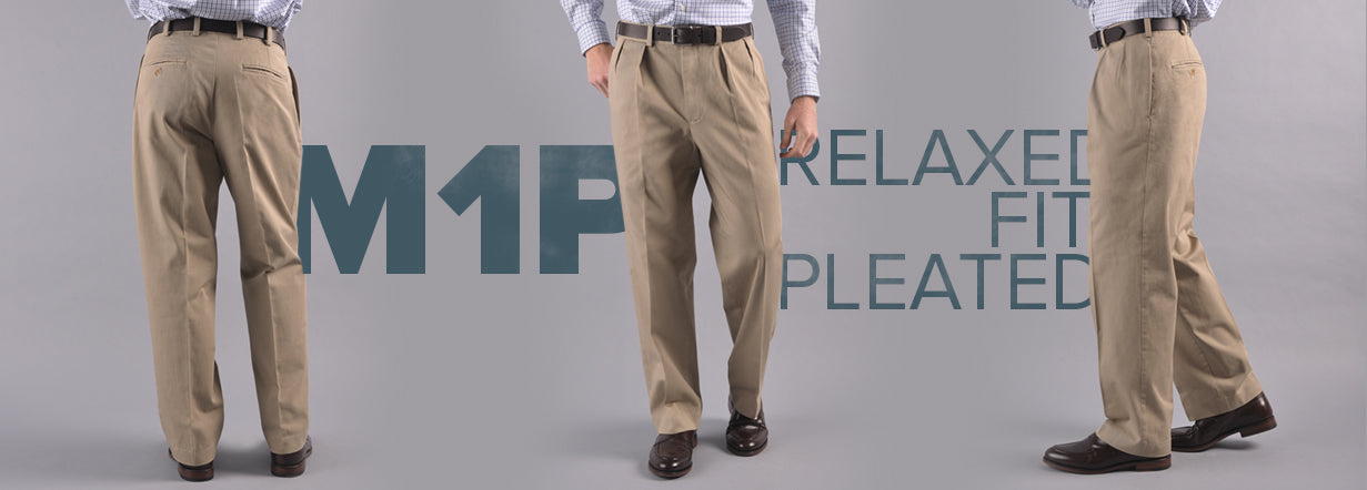 Bills Khakis Model 1 Pleated Fit