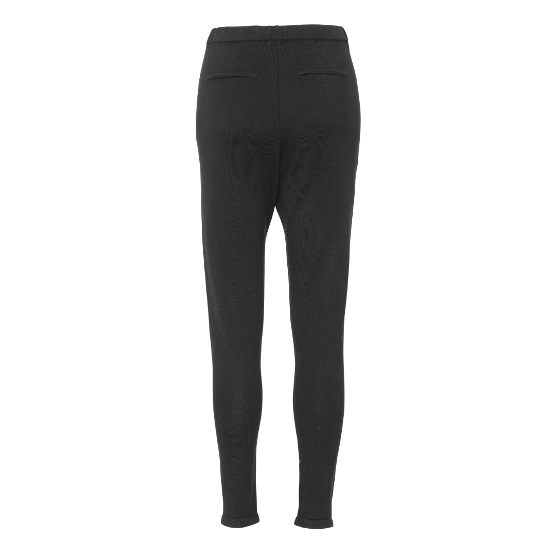 Black Silk Cashmere Pants