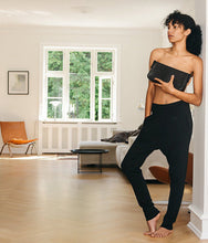 Load image into Gallery viewer, Black Silk Cashmere Pants