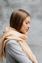 Load image into Gallery viewer, Golden Camel Cashmere Silk Scarf