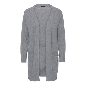 Long Husky Grey cashmere cardigan