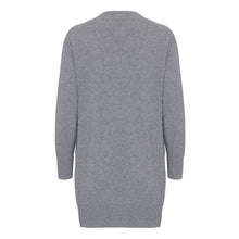 Load image into Gallery viewer, Long Husky Grey Cashmere Cardigan