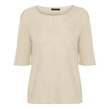 Load image into Gallery viewer, Ivory Short Sleeved Silk Cashmere Knit
