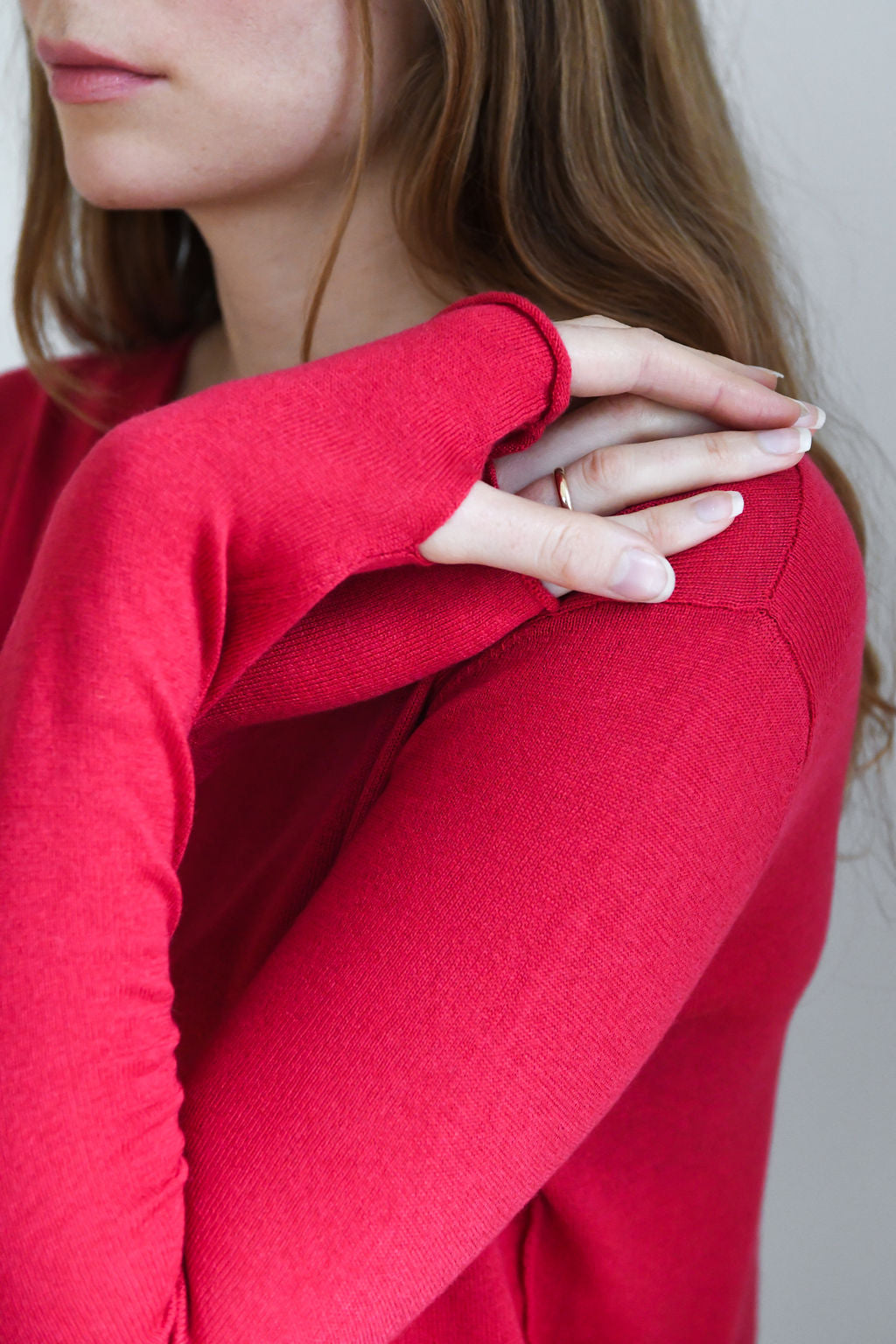 Red Silk Cashmere Sweater