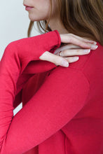 Load image into Gallery viewer, Red Silk Cashmere Sweater