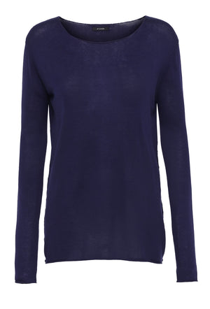 Navy silk cashmere sweater