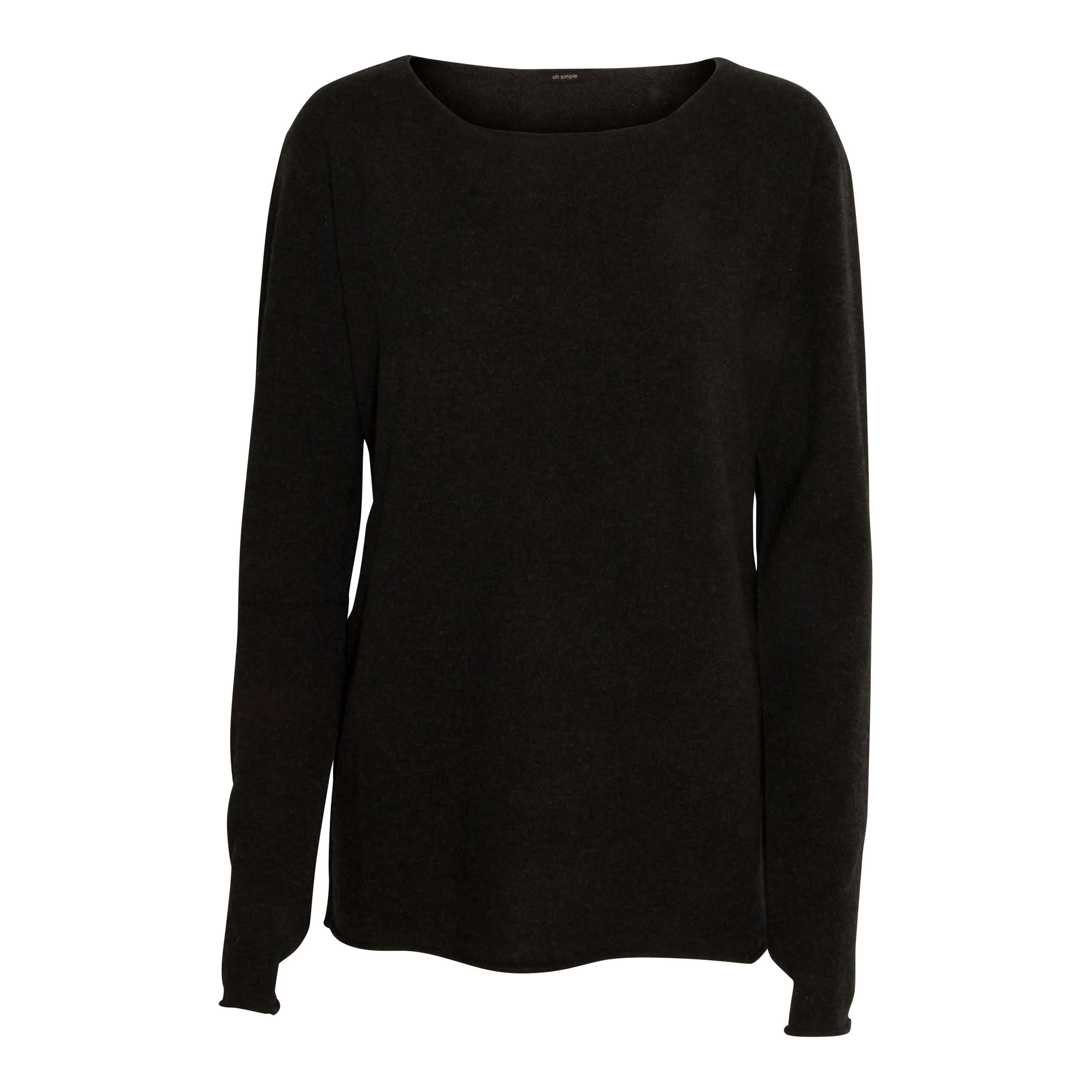Warm charcoal cashmere-blend sweater