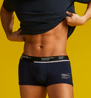 BOXER BRIEFS-LOW RISE BLACK NAVY