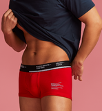 BOXER BRIEFS-LOW RISE STROKE RED