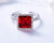Ring of Elizabeth (Ruby Red)! - Adjustable Size! - Rhodium Plated ! - with European Crystals! - Free Box Packaging!