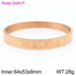 Majesty Bracelet! - Pure Rose Gold Plated Over 316L Stainless Steel! - Free Box Packaging!
