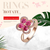 Rose Gold Plated Ring with Dancing Swarovski® Crystal Elements - Niovani
