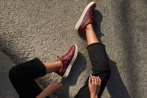 Women's Burgundy Sneakers