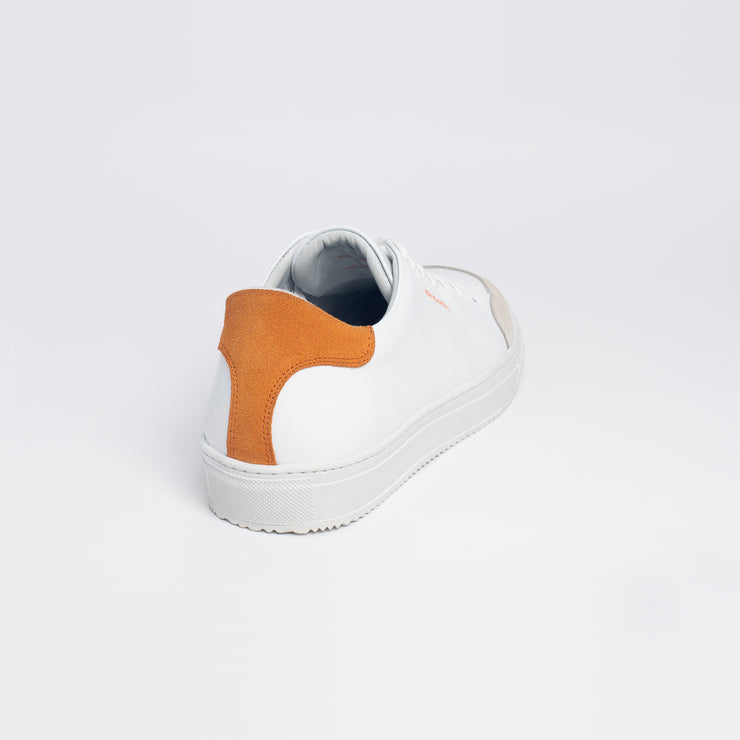 New Movements AS Model ÅPNE Sneakers White Orange Color 010