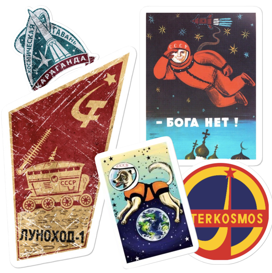 Soviet Space Sticker Collection