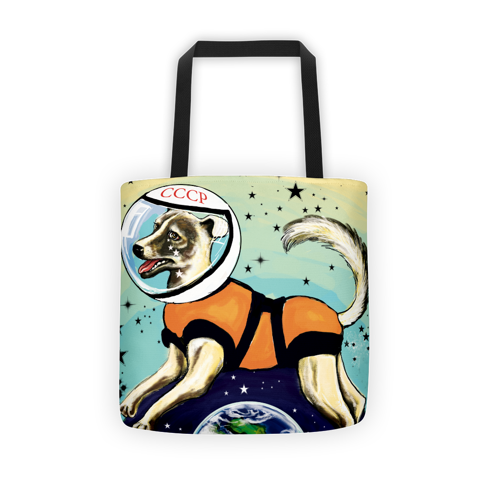 Laika CCCP Space Dog Tote - STRATONAUT Shop