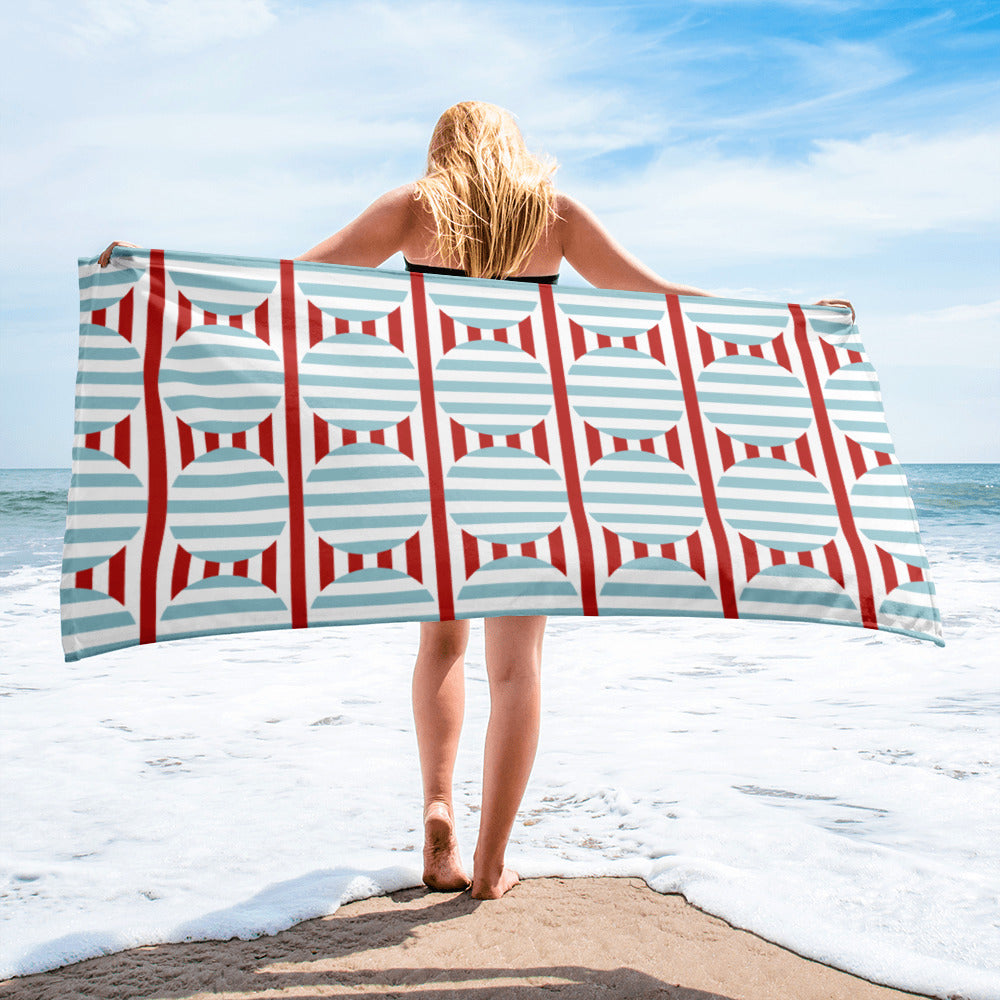 'Geometry Of Revolution' Beach Towel