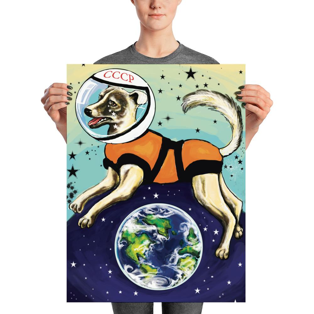Laika CCCP Space Dog Print - STRATONAUT Shop