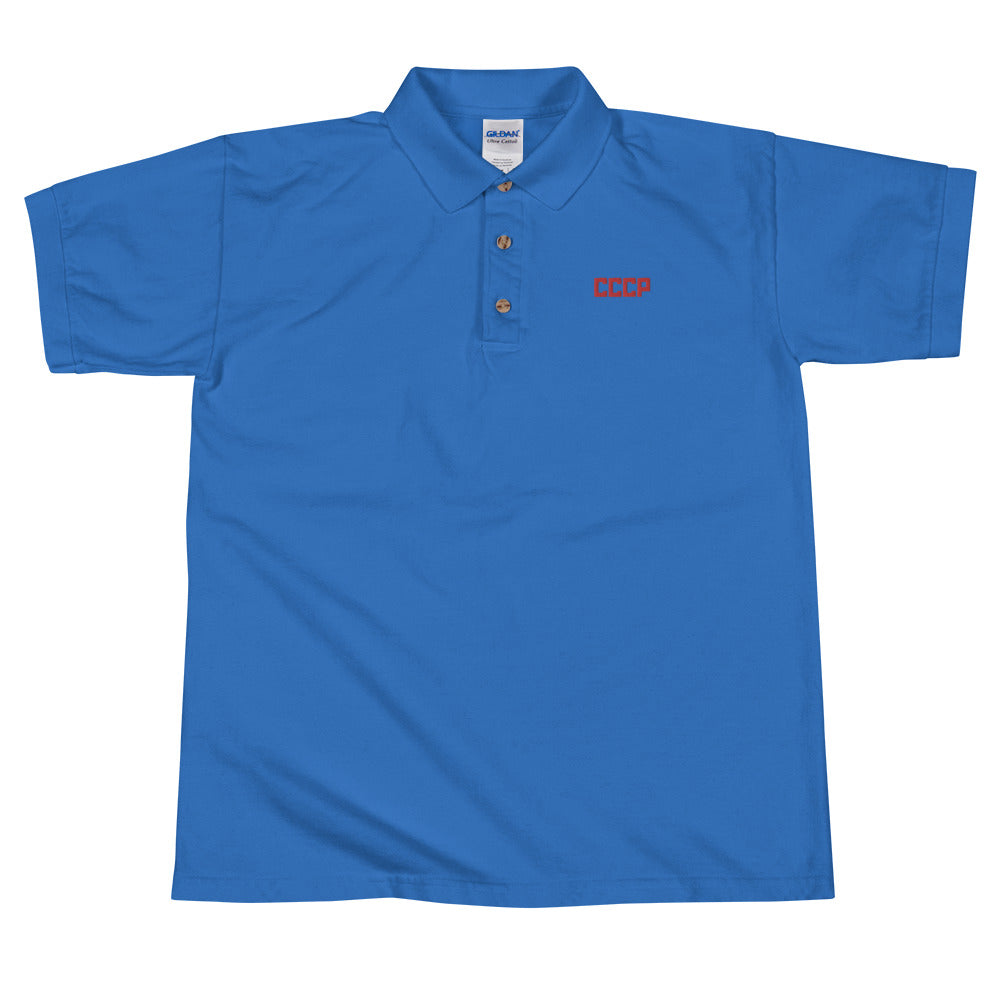 CCCP Embroidered Polo Shirt