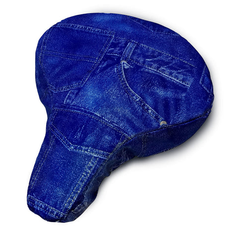 Blue Jean (Denim) Cushy Bike Seat Cover