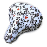I Love My Bike Cushy Bike Seat Cover