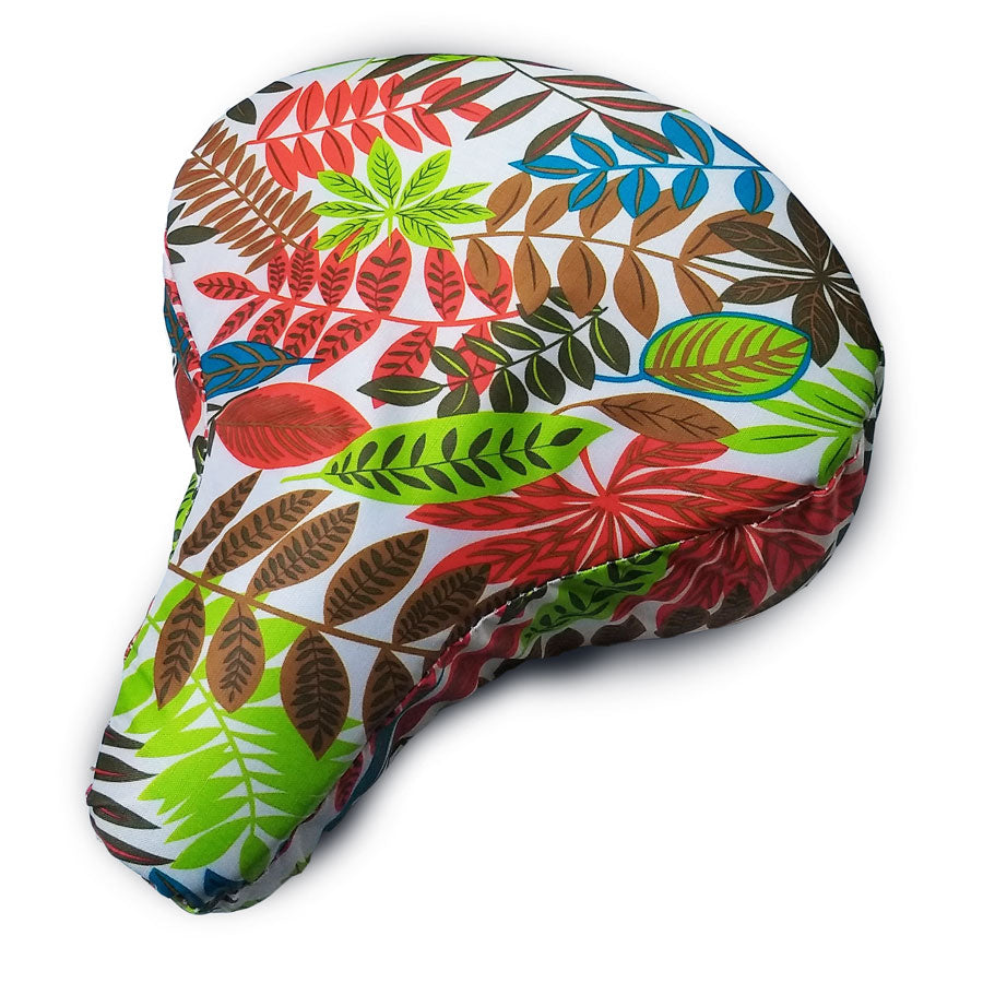 Wild Tropical Cushy Bike Seat Cover