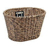 Plastic Woven Basket Light Brown/Black