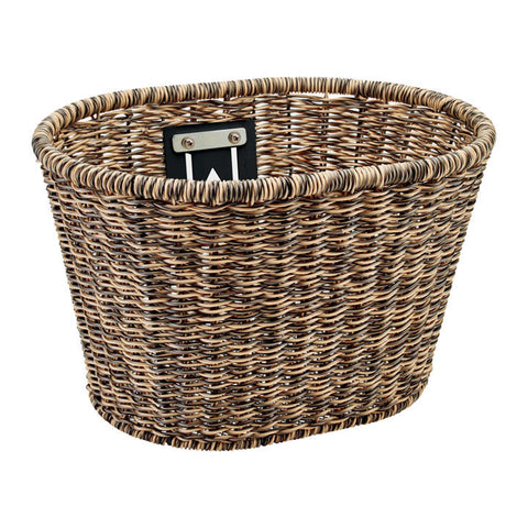 Plastic Woven Basket Light Brown/Black       Available  10.24.20