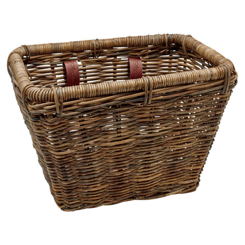 Rattan Rectangular Basket Brown - Newport Cruisers