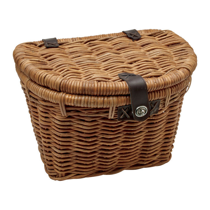 Rattan Woven Basket With Lid Natural