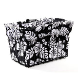 Black White Hibicus Basket Liner - Newport Cruisers